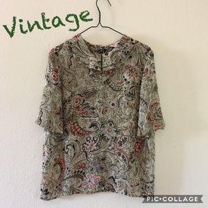 Beautiful Vintage Alfeizar Sheer Blouse